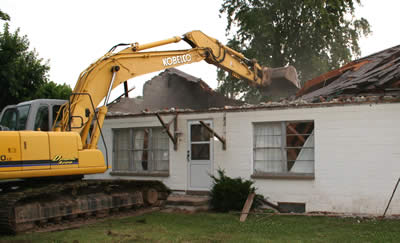 home demolition in Cornelius, NC