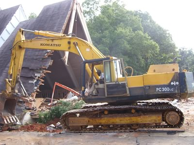 house demolition in Concord, NC